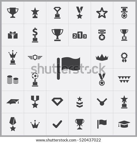 flag icon. award icons universal set for web and mobile