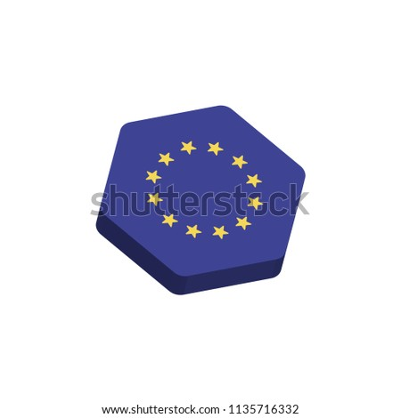 flag icon Hexagon of european-union #1135716332