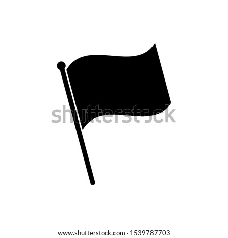 Flag icon isolated on white background. Flag icon in trendy design style. Flag vector icon modern and simple flat symbol for web site, mobile, logo, app, UI. Flag icon vector illustration, EPS10.