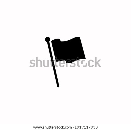 Flag icon vector on a white background