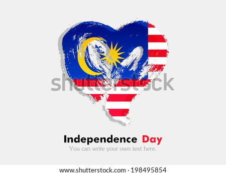flag in the shape of heart in