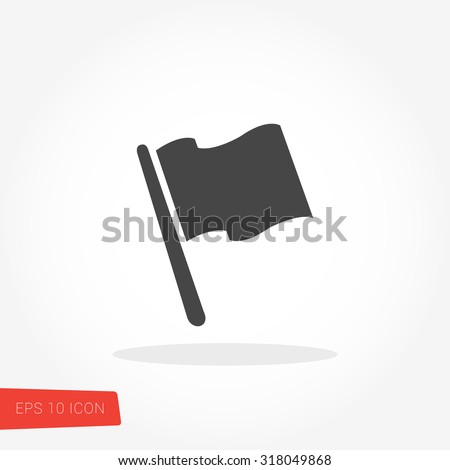 Flag Isolated Flat Web Mobile Icon / Vector / Sign / Symbol / Button / Element / Silhouette stock photo