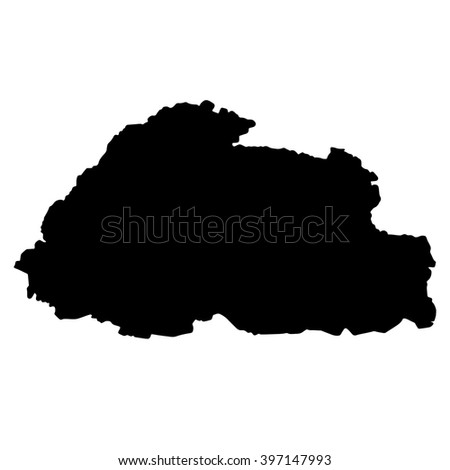 Flag-map of Bhutan
