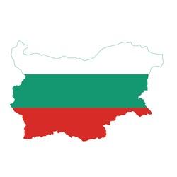 Flag map of Bulgaria