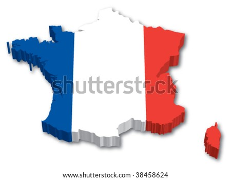 Flag Map of France