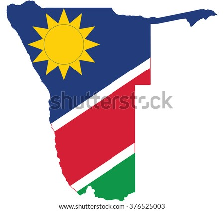 flag map of namibia