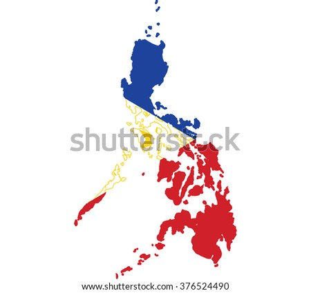 Flag map of Philippines
