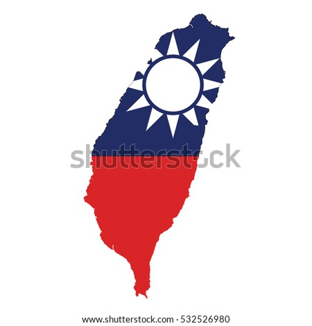 flag map of taiwan