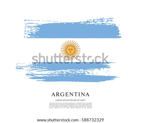 flag of argentina  brush stroke