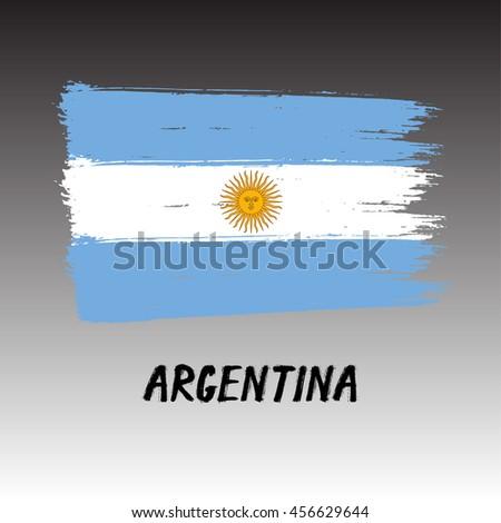 flag of argentina    grunge
