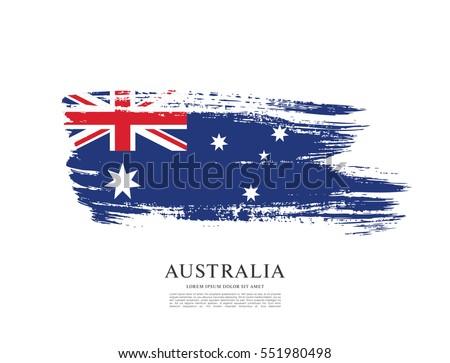 Flag of Australia, brush stroke background