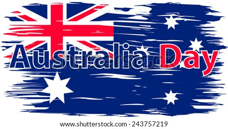 Flag Of Australia Painted Brush Colored Inks Symbol Independence Day National Patriotic Travel Country
