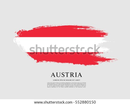flag of austria  brush stroke