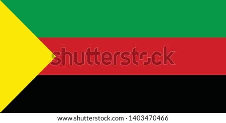 Flag of Azawad MNLA vector illustration