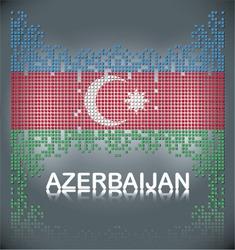 Flag of Azerbaijan from square blocks, vector