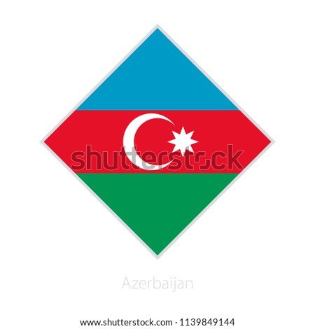 Flag of Azerbaijan participant of the Europe football competition. Vector flag.