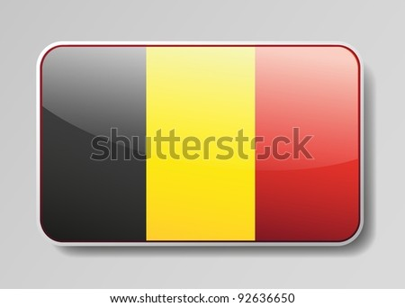 Flag of Belgium in the form of an icon for a web of pages