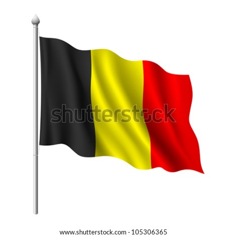 flag of belgium  vector