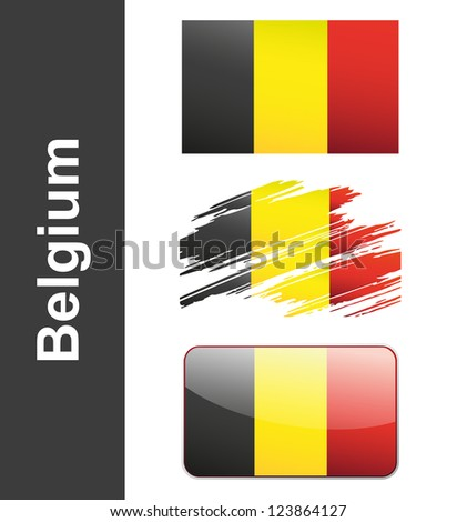 Flag Of Belgiumin isolated on white background vector