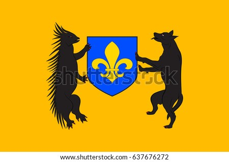 Flag of Blois is a city and the capital of Loir-et-Cher department in central France. Vector illustration