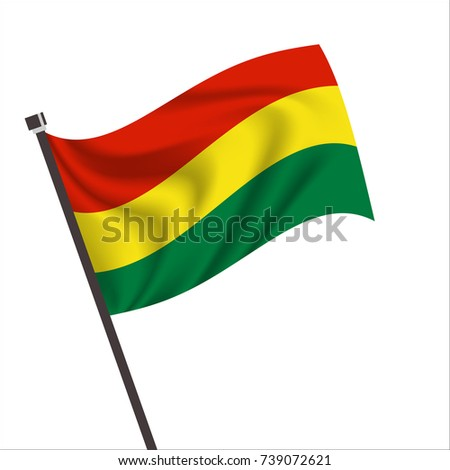 Flag of Bolivia. Bolivia Icon vector illustration,National flag for country of Bolivia isolated, banner vector illustration. Vector illustration eps10.
