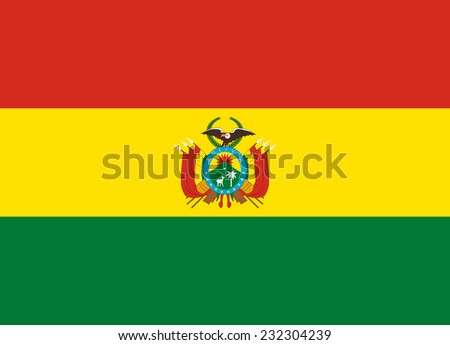 flag of bolivia vector