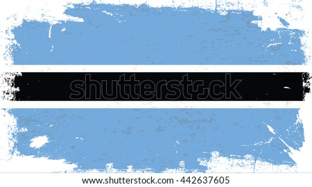 flag of botswana in the ancient