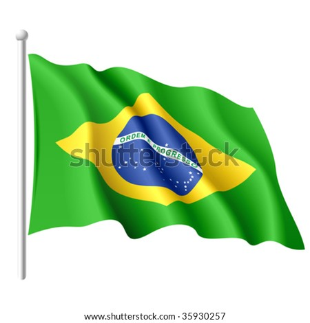 Flag of Brazil. Vector.