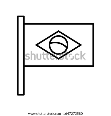 flag of brazilian icon or logo illustration on white background. Perfect use for website, pattern, design, etc.
