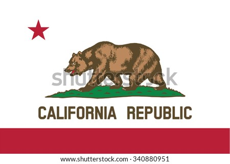 flag of california state of the