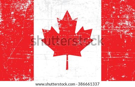 flag of canada grungy  worn