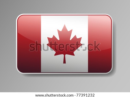 Flag of Canada in the form of an icon for a web of pages