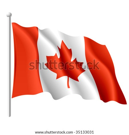 Flag of Canada. Vector.