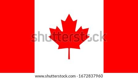 Flag of Canada Vector Design Template