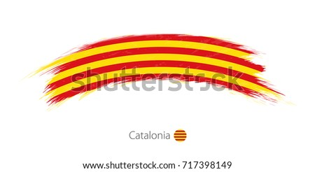 flag of catalonia in rounded