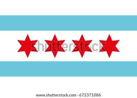 Flag of Chicago in vector