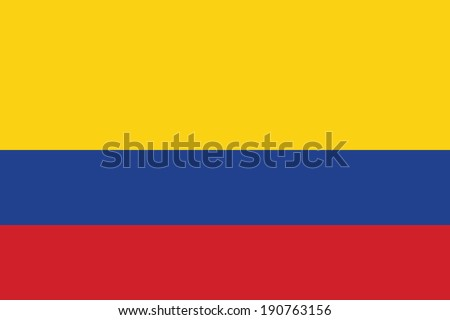 Flag of Colombia. Vector. Accurate dimensions, elements proportions and colors. Stock photo ©