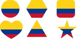 Flag of Columbia, Columbia Flag vector set.