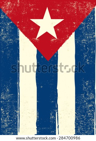 flag of cuba a cuban grunge
