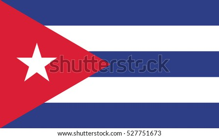 Flag of Cuba. The correct proportions and color. Vector
