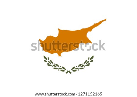 Flag of Cyprus. Official colors. Correct proportion. Vector illustration