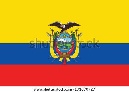 flag of ecuador with coat of...