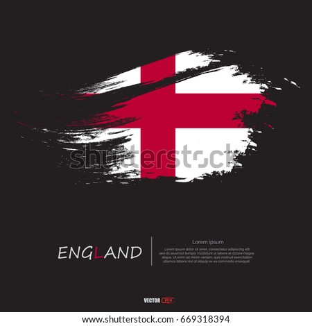flag of england with grunge...