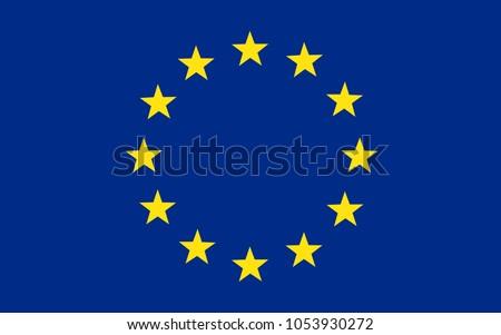 Flag of Europe, European Union – stock vector Photo stock ©
