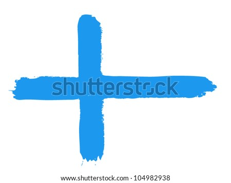 Flag of Finland, vector illustration
