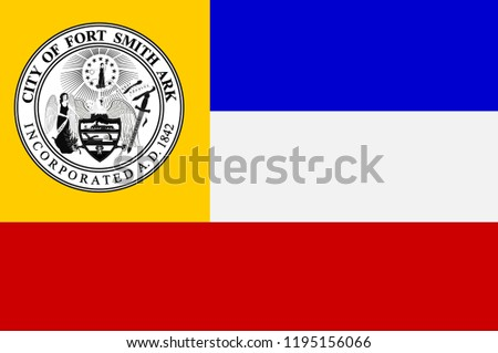 flag of fort smith is the