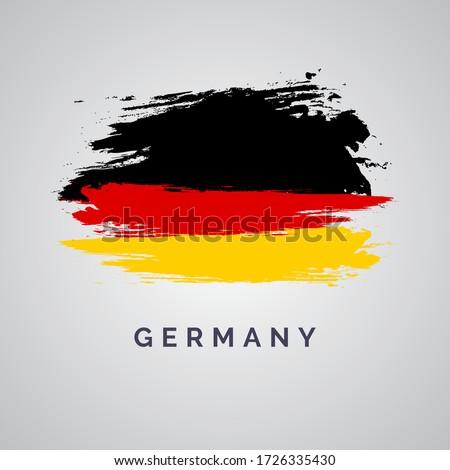 flag of germany brush stroke