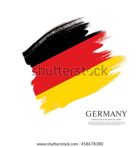 flag of germany made in brush
