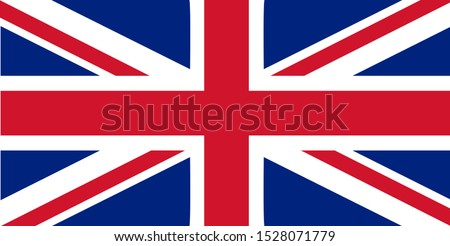 Flag of Great Britain. Flag properly created, correct technology. State symbols, patriotism, national holidays