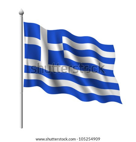 Flag of Greece. vector illustration - stock vector